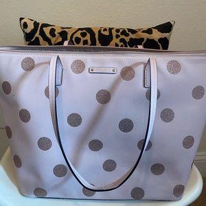 Kate Spade Tote with Pink Polka Dots